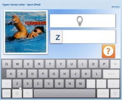 Lezen & Typen: Eerste letter, Sport 2 (iPad)